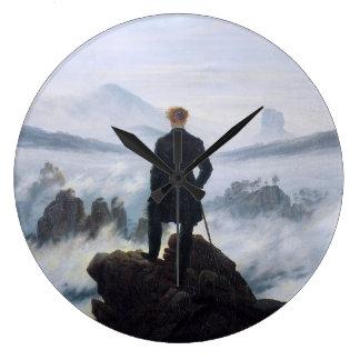 CASPAR DAVID FRIEDRICH - Wanderer above the sea Large Clock