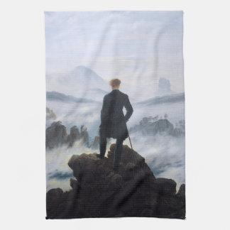 CASPAR DAVID FRIEDRICH - Wanderer above the sea Tea Towel