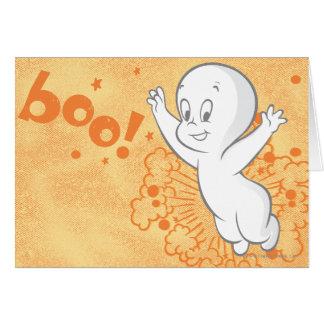 Casper Boo Orange Greeting Card