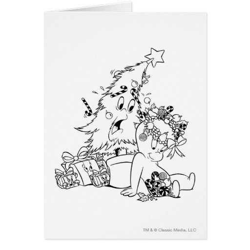 Casper Christmas Tree Card