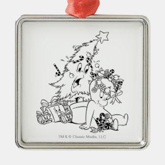Casper Christmas Tree Metal Ornament