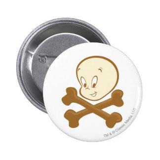 Casper Crossbones 6 Cm Round Badge