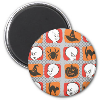 Casper Icon Pattern 6 Cm Round Magnet
