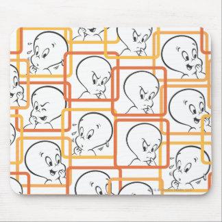 Casper Orange Squares Mouse Pad