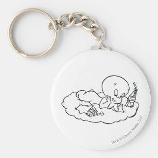 Casper Snacking on Cloud Key Ring