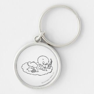 Casper Snacking on Cloud Key Ring