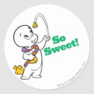 Casper So Sweet Round Sticker