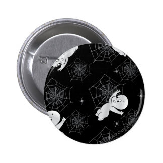 Casper Spider and Webs Pattern 6 Cm Round Badge