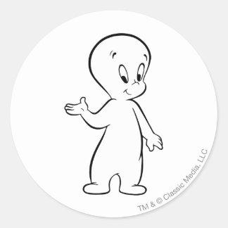 Casper Standing Round Sticker