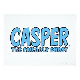 Casper the Friendly Ghost Blue Logo 1 13 Cm X 18 Cm Invitation Card