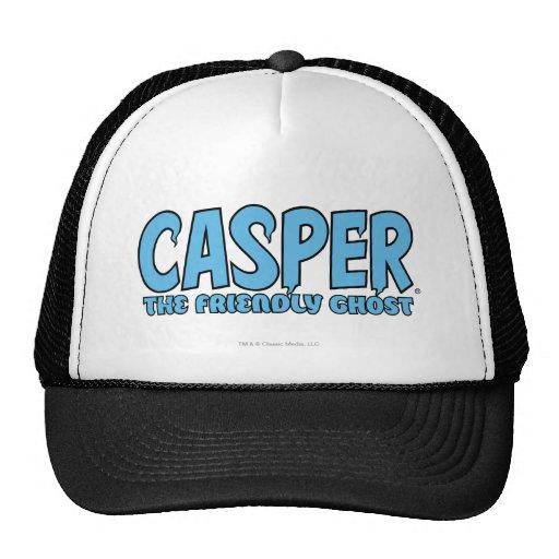 Casper the Friendly Ghost Blue Logo 1 Hats