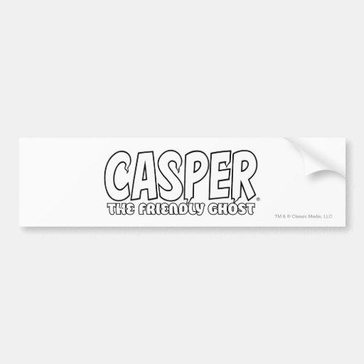 Casper the Friendly Ghost White Logo Bumper Stickers