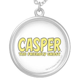 Casper the Friendly Ghost Yellow Logo Silver Plated Necklace