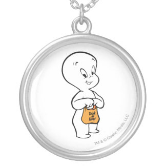 Casper Trick or Treat Silver Plated Necklace