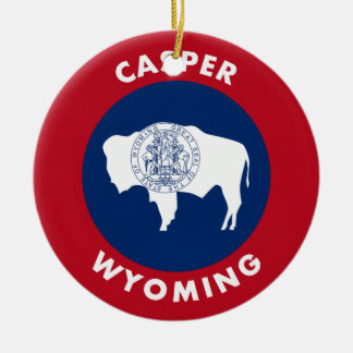 Casper, Wyoming Ceramic Ornament