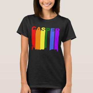 Casper Wyoming Gay Pride Rainbow Skyline T-Shirt