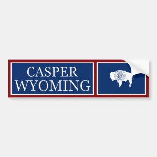 Casper Wyoming State Flag Bumper Sticker