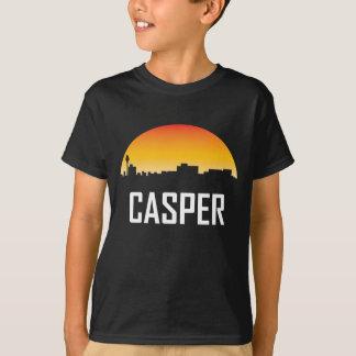 Casper Wyoming Sunset Skyline T-Shirt