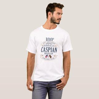 Caspian, Michigan 100th Anniversary White T-Shirt