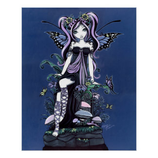 Cassandra Mushroom Flower Fairy Poster