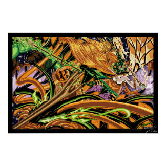 Cassandra Rides The Halloween Dragon Photo Print