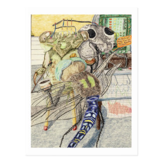 Cassandra The Cicada Has A Lie Detector Test Postcard