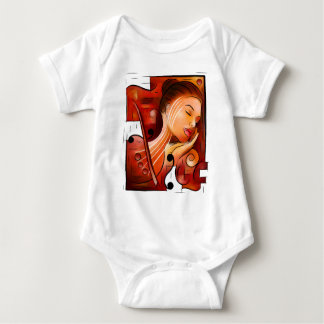 Casselopia - Violin dream without back Baby Bodysuit
