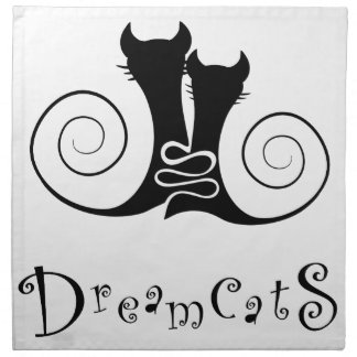 Casseminia - dreamcats with text napkin