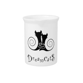 Casseminia - dreamcats with text pitcher