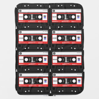 Cassette and Vinyl Baby Blanket