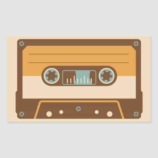 Cassette Tape Analog Design Rectangle Stickers