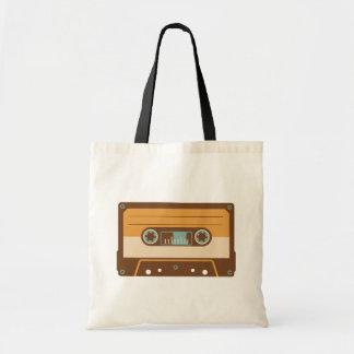 Cassette Tape Analog Design Budget Tote Bag