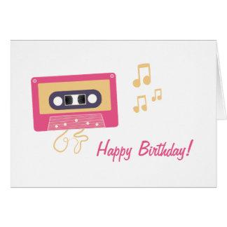 Cassette Tape Birthday Card