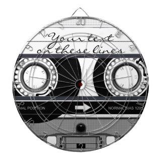 Cassette tape - black - dartboard