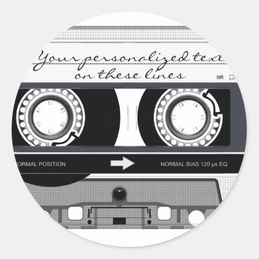 Cassette tape - black - stickers