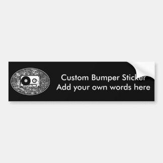 Cassette Tape Black & White Bumper Sticker