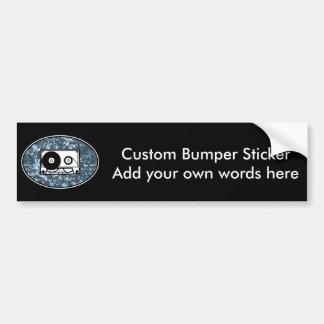 Cassette Tape Blue Bumper Sticker