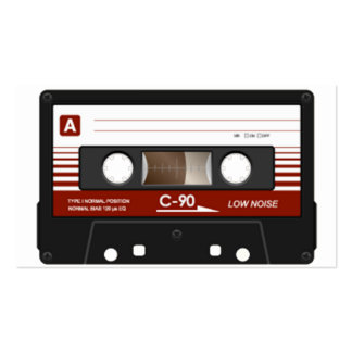 Cassette Tape Pack Of Standard Business Cards