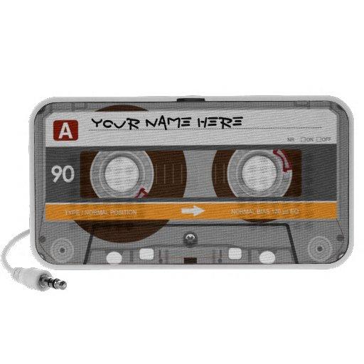Cassette Tape Customizable Doodle Laptop Speakers