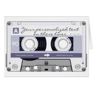 Cassette tape - grey - card