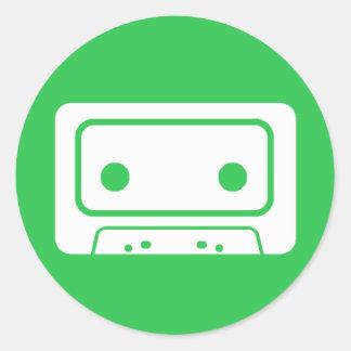 Cassette Tape Icon Round Sticker