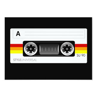 Cassette tape label invitation