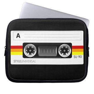 Cassette tape label laptop sleeve