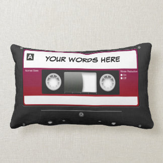 Cassette Tape Mixtape (personalised) Lumbar Pillow