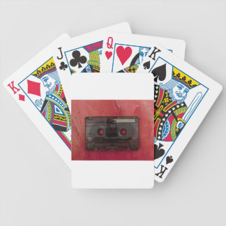 Cassette tape music vintage red bicycle playing cards