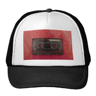 Cassette tape music vintage red cap