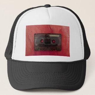 Cassette tape music vintage red trucker hat