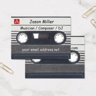 Cassette Tape Musician Business Card