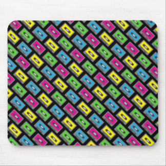 Cassette Tape Pattern Mouse Pads