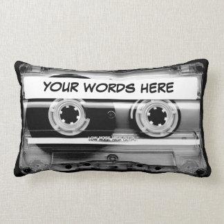 Cassette Tape Personalised Lumbar Cushion
